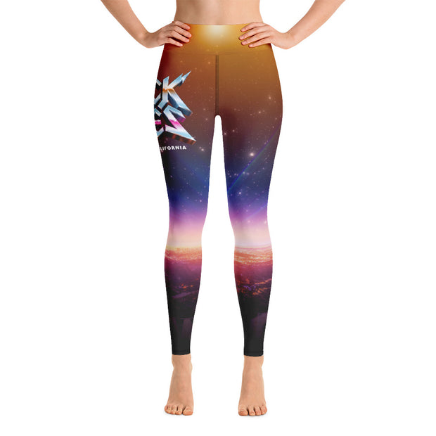 All-Over Print Hollywood Sunrise Yoga Leggings, Rock of Ages