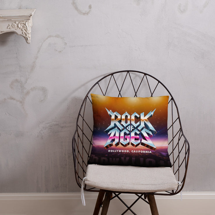 Hollywood Sunset / Black Throw Pillow, Rock of Ages Hollywood