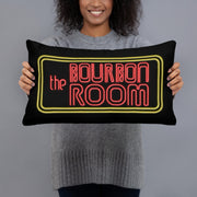 Black Throw Pillow, The Bourbon Room Hollywood