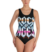 All-Over Print, One-Piece Swimsuit, Rock of Ages Hollywood