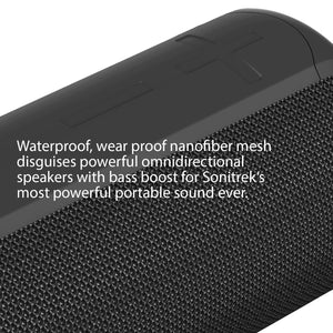 Sonitrek Go XL Smart Bluetooth 5 Portable Wireless Waterproof Speaker - Free Shipping