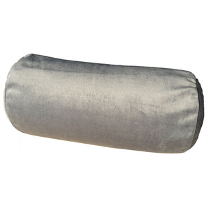 Squishy Deluxe Microbead Bolster Pillow with VELOUR Cover - Grey