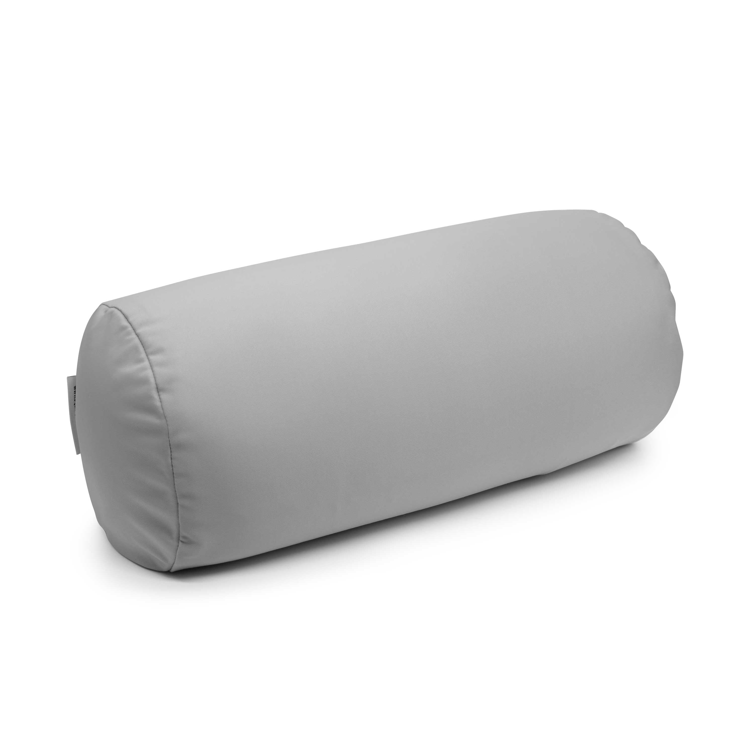 Squishy Deluxe Microbead Bolster Pillow with Removable Cover - Grey