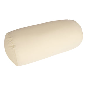 Squishy Deluxe Microbead Bolster Pillow with Removable Cover-Cream