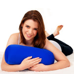 Squishy Deluxe Microbead Bolster Pillow with Removable Cover - Navy Blue