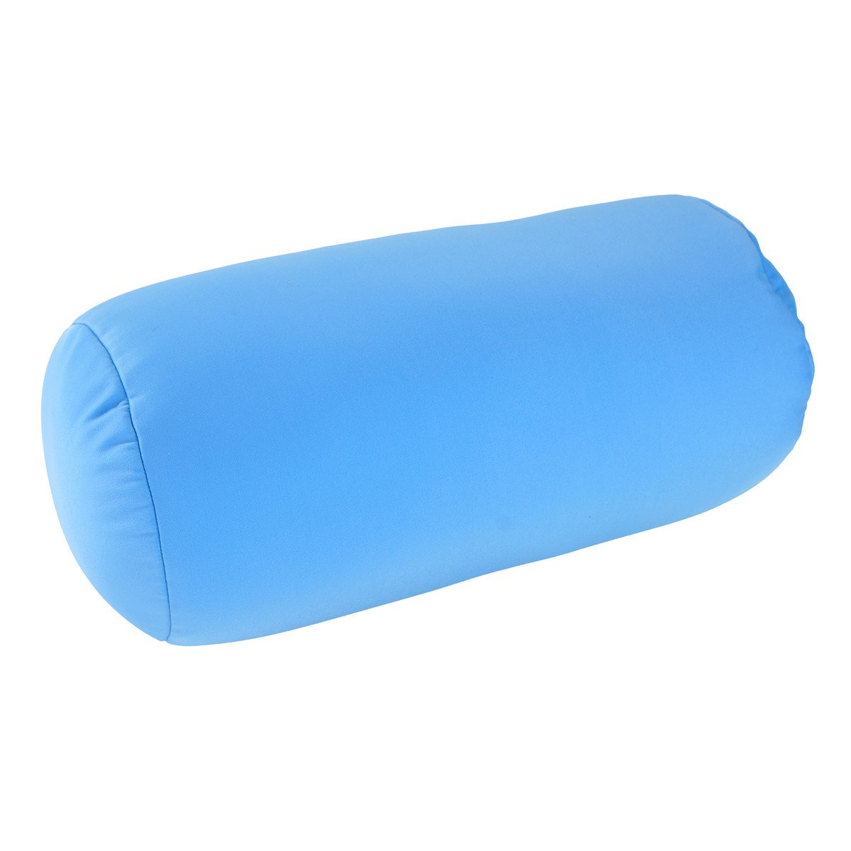 Squishy Deluxe Microbead Bolster Pillow with Removable Cover-Sky Blue