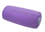 Squishy Deluxe Microbead Bolster Pillow with Removable Cover-Purple