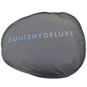Squishy Deluxe Microbead Body Pillow with Removable Cover - Grey