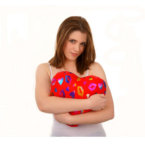 Squishy Deluxe Red Heart Kisses Microbead Pillow