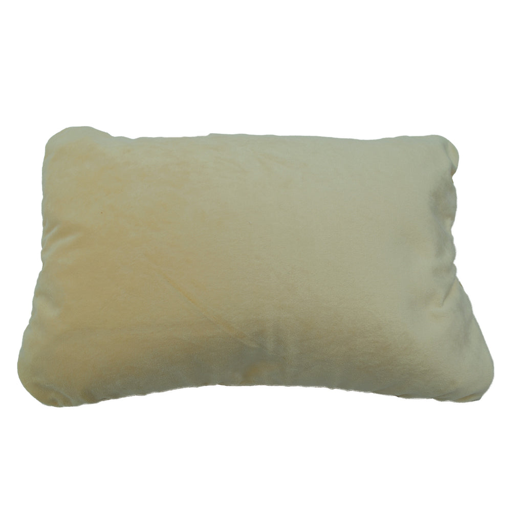 Squishy Deluxe Microbead Rectangular Travel Pillow - Cream
