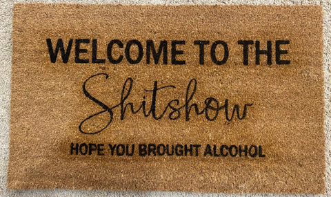 Welcome to the Shitshow Door Mat