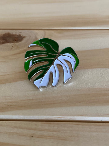 Varigated Monstera Pin