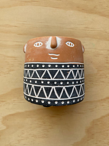Aztec Person Planter SML