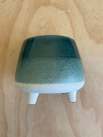 Two Toned Planter Green