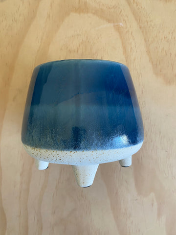 Two Toned Planter Blue