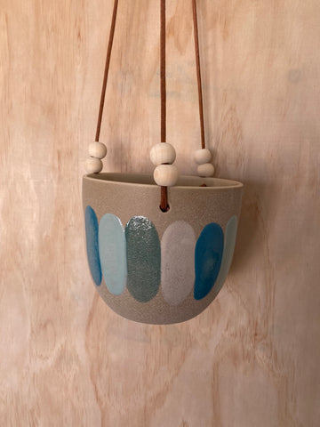 Stria Hanging Planter Pastel