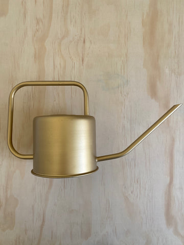 Gold Metal Watering Can