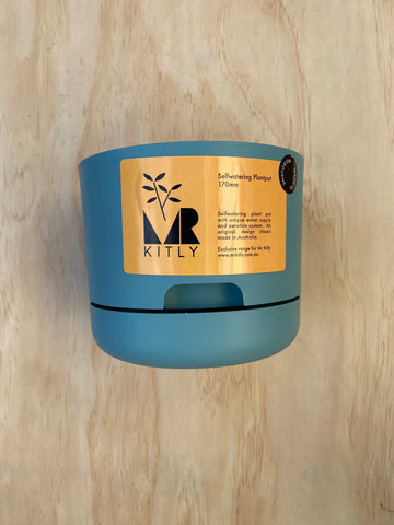 Kitly Self Watering Planter POND BLUE