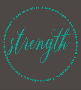"""Strength"" Kimberly Morring T-Shirt"