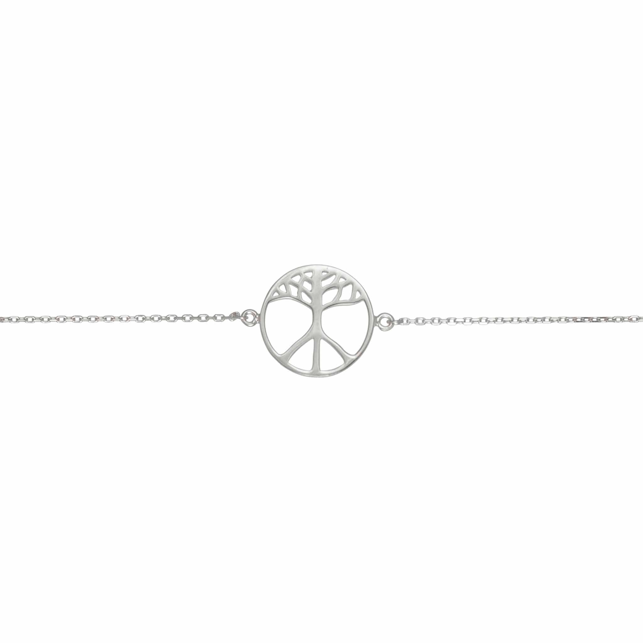 BON HOPE - One Earth Silver Bracelet. The symbol is a merge of the tree of life and the classic peace symbol. 100% recycled silver jewelry ethically made in Bali.