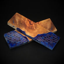 Load image into Gallery viewer, Maple Burl & Aluminum Honeycomb Custom Knife Scales #20493