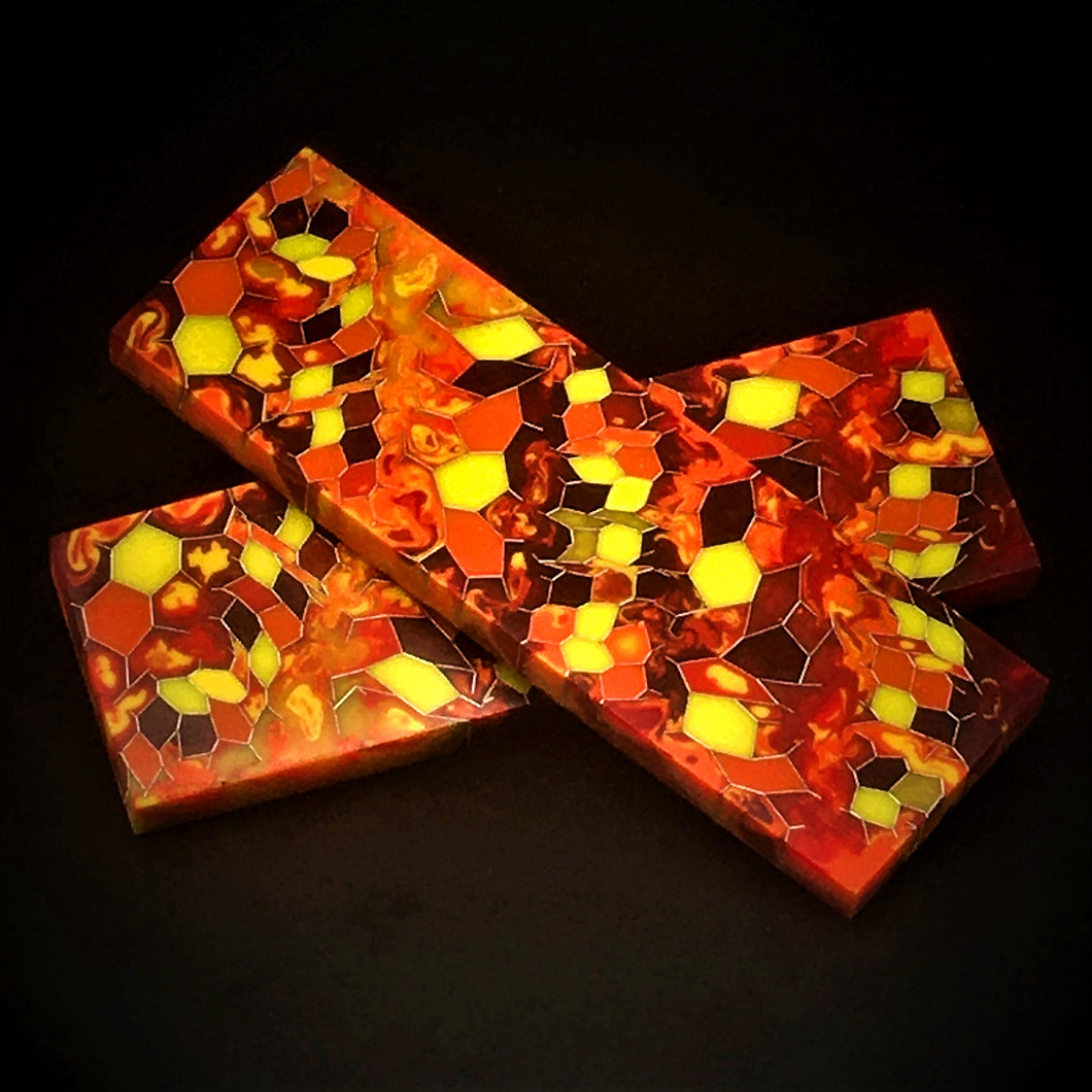 Aluminum Honeycomb and Urethane Resin Custom Knife Scales #20538