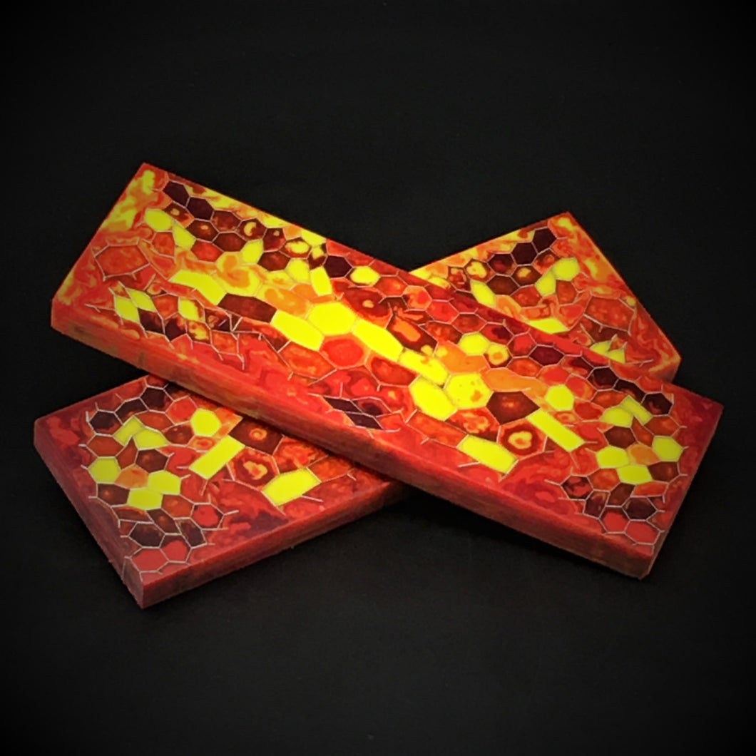 Aluminum Honeycomb and Urethane Resin Custom Knife Scales #21043