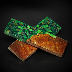 Redwood Burl & Aluminum Honeycomb Custom Knife Scales #21141