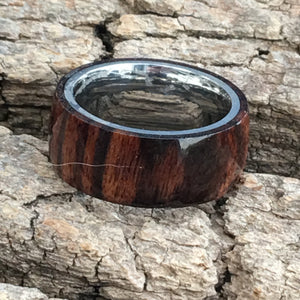Natural Cocobolo Wooden Ring sz9 1/2