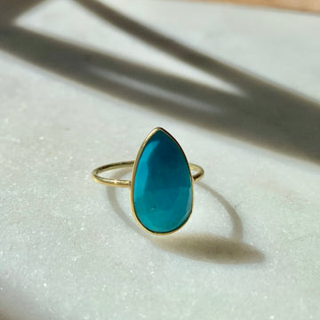 Pear Shape Turquoise Ring