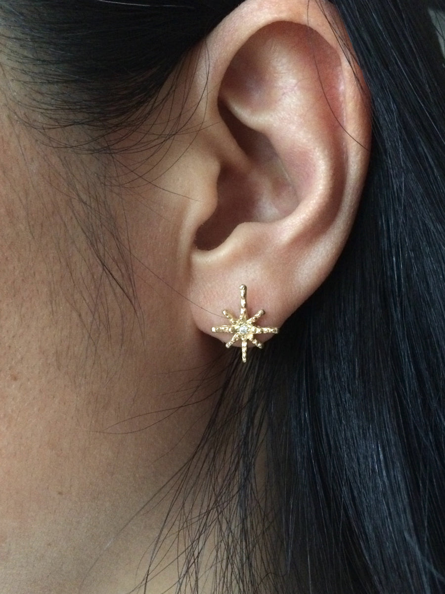Twinkle Star Diamond Stud Earrings
