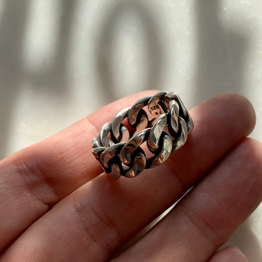 Wide Cuban Chain Ring