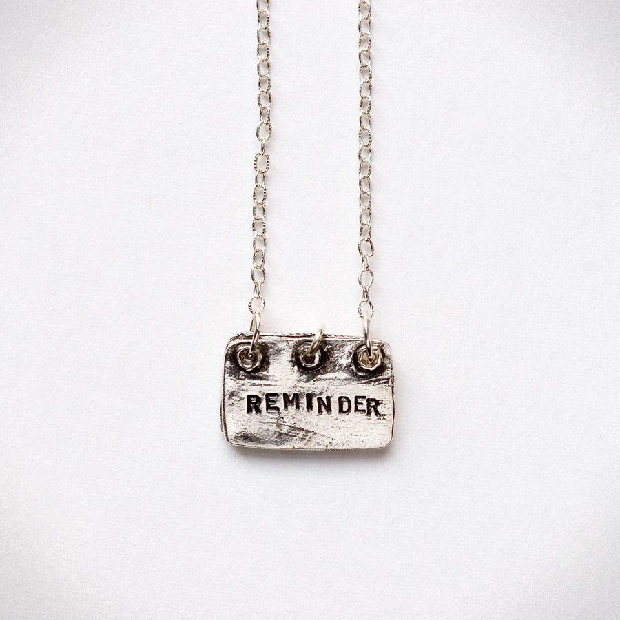 Reminder Notebook Necklace