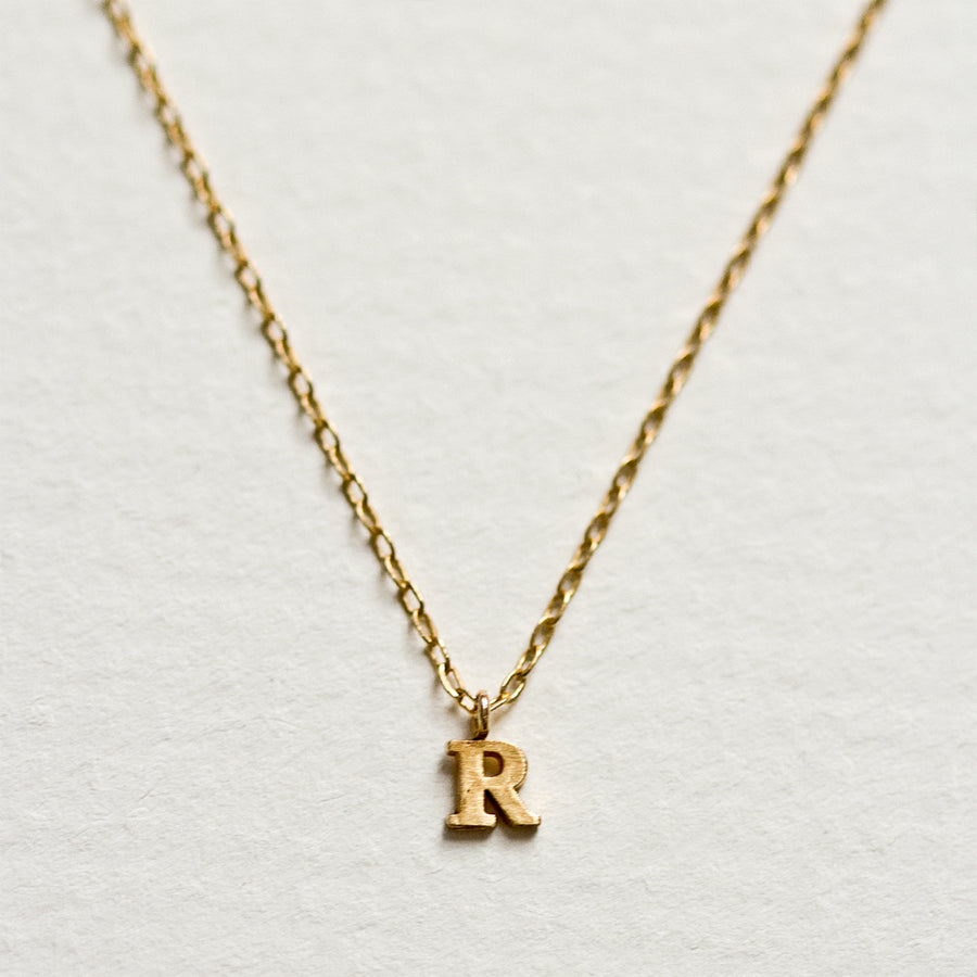 Tiny Alphabet Necklace