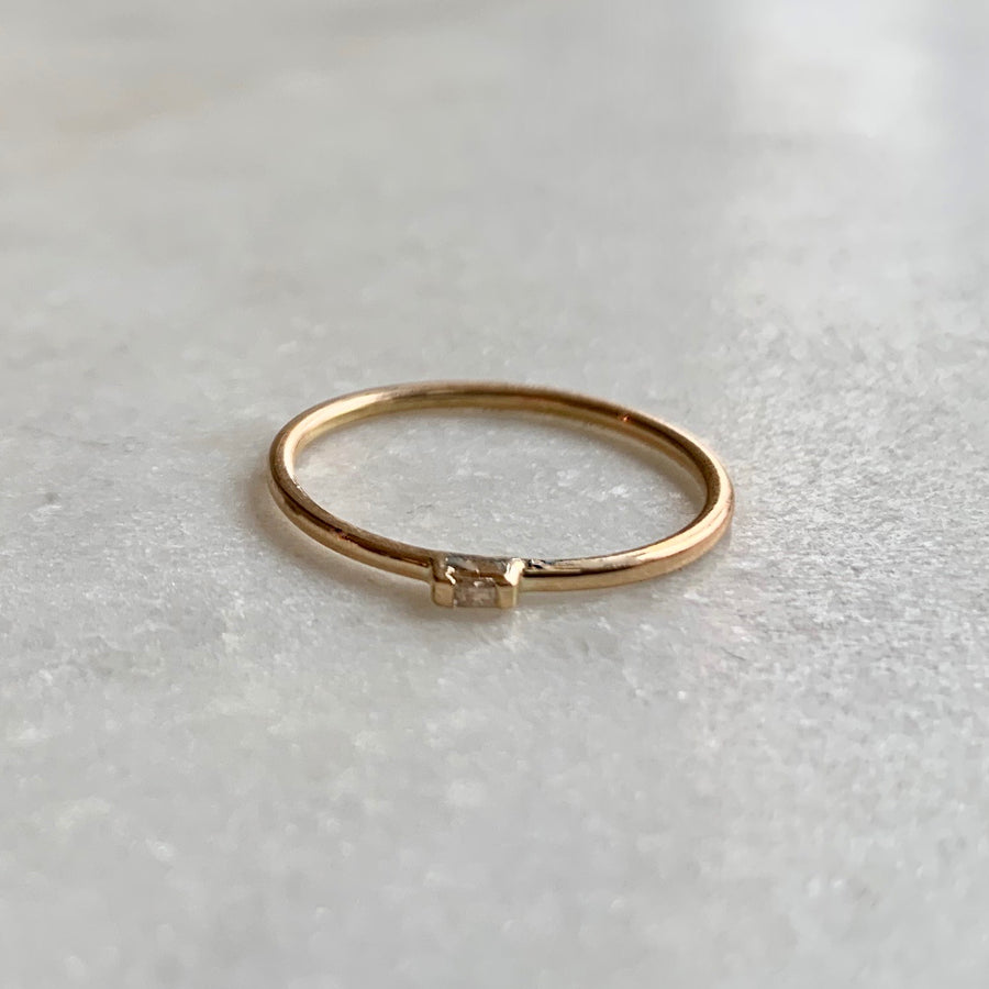 Baguette on Band Ring