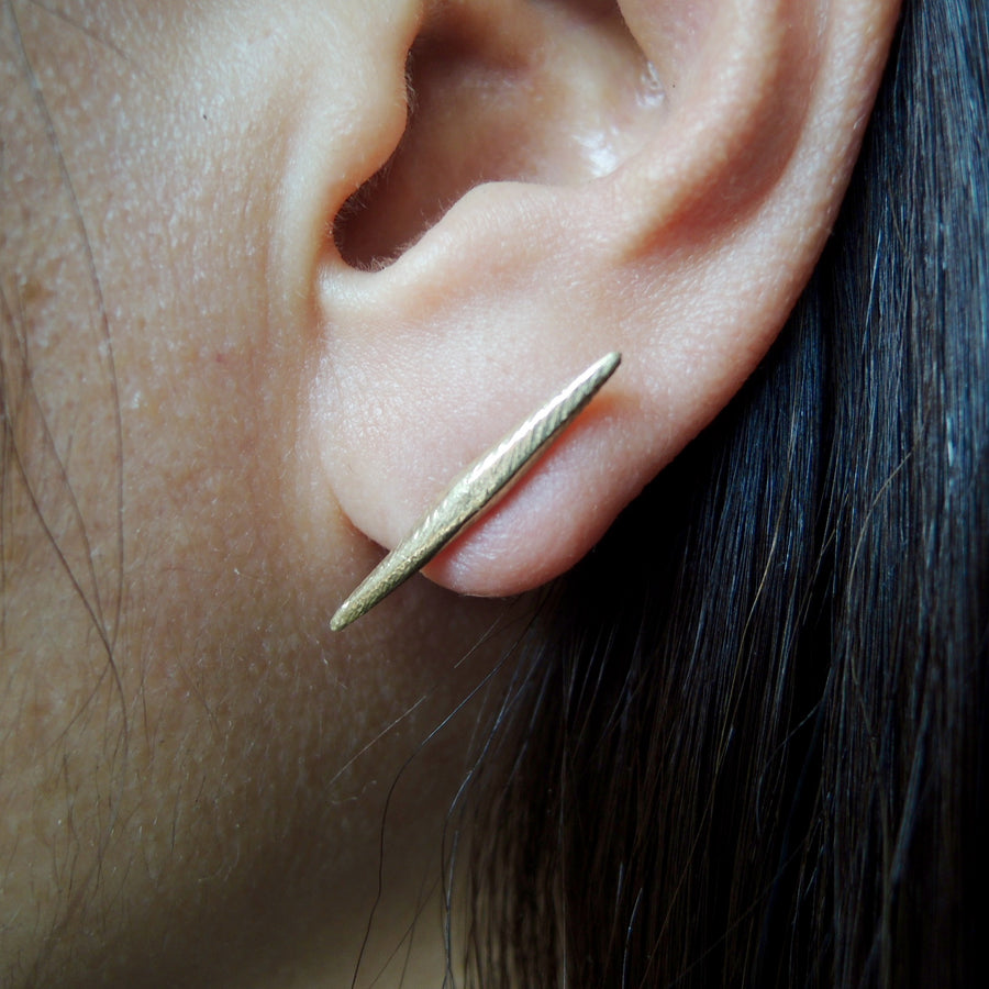 Tapered Bar Stud Single Earring