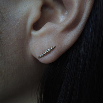 Textured Diamond Bar Earrings