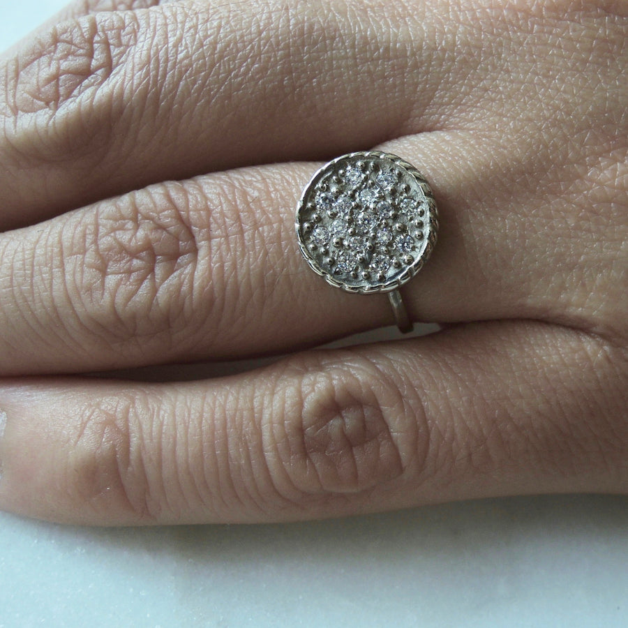Sunshine Diamond Pave Ring