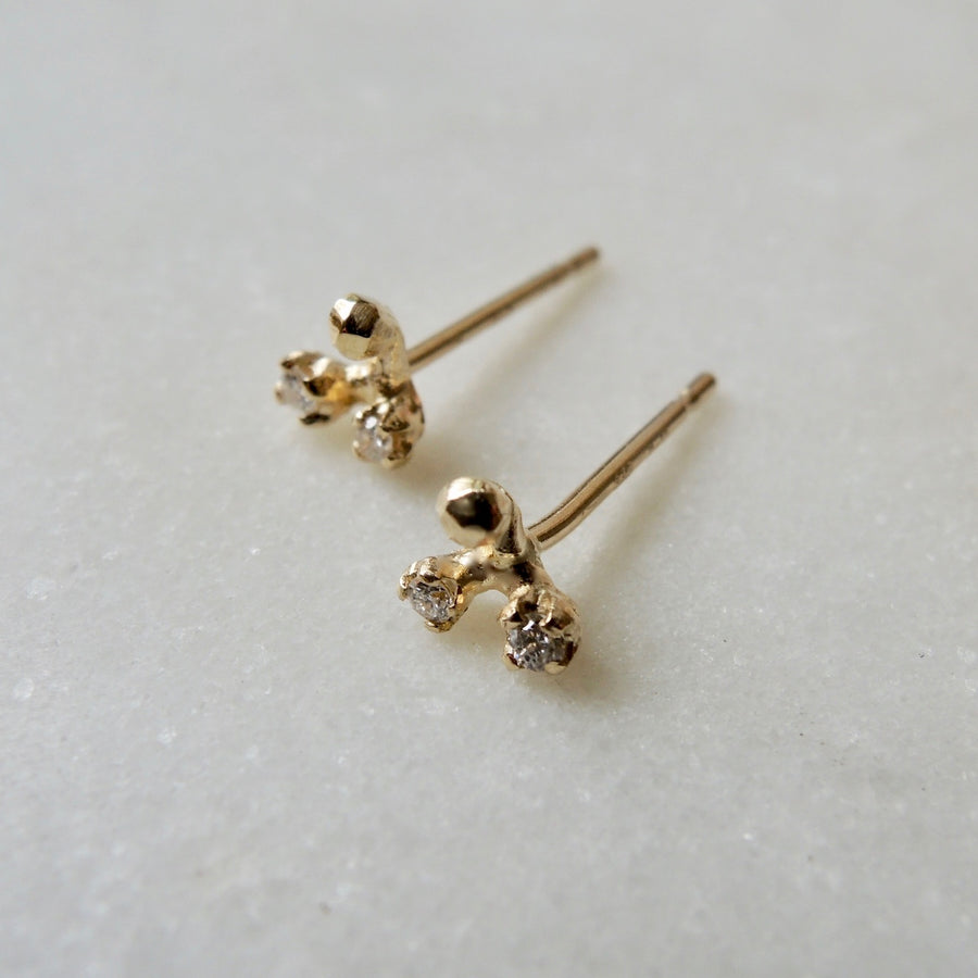 Diamond Bud Earrings