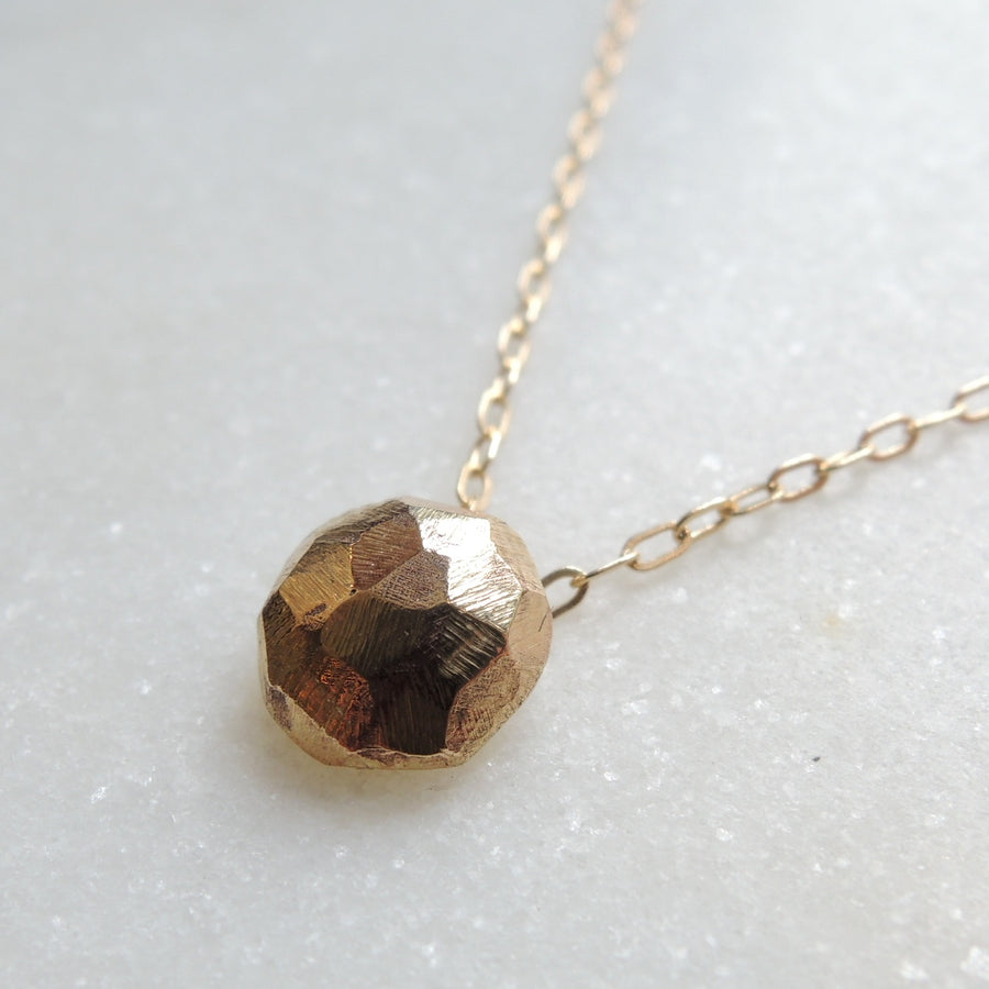 Faceted Gold Pendant Necklace