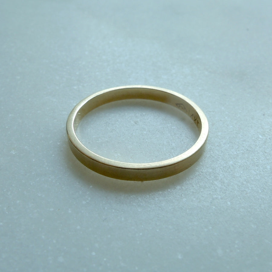 Flat Reika Band Ring 2mm
