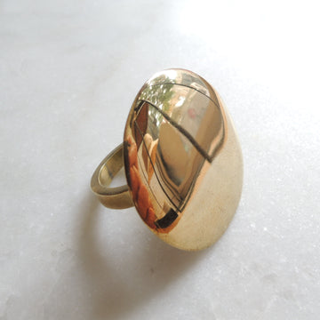 Big Round Face Brass Ring