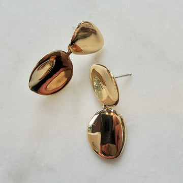 Bronze Petal Drop Earrings