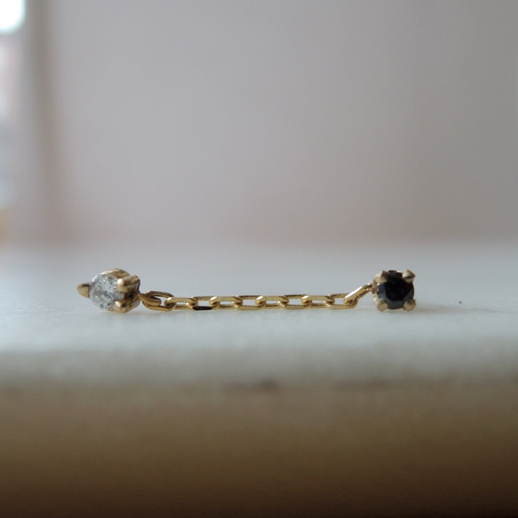 Chained Diamond Earrings (single)