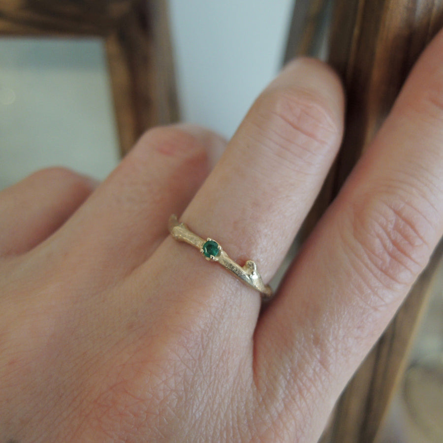 Emerald Branch Ring