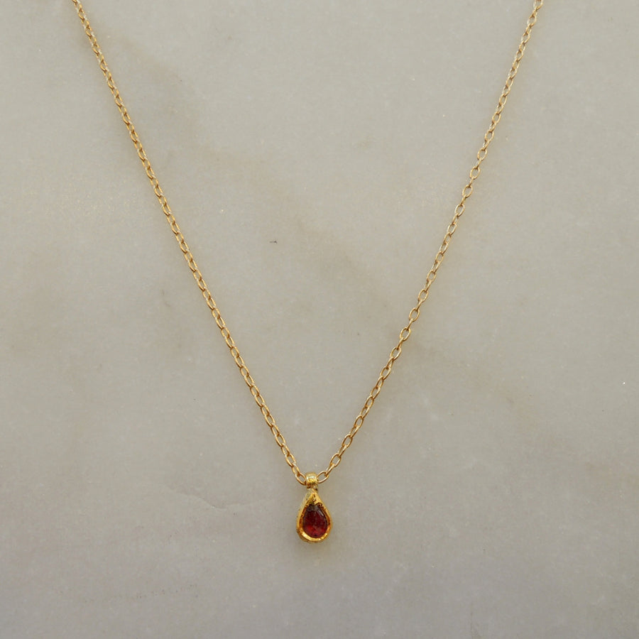 Ruby Seed Necklace