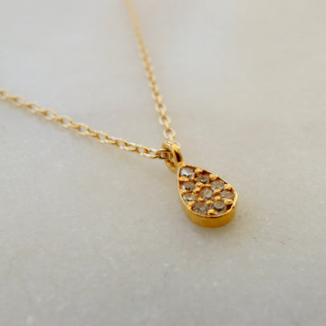 Diamond Teardrop Pave Necklace