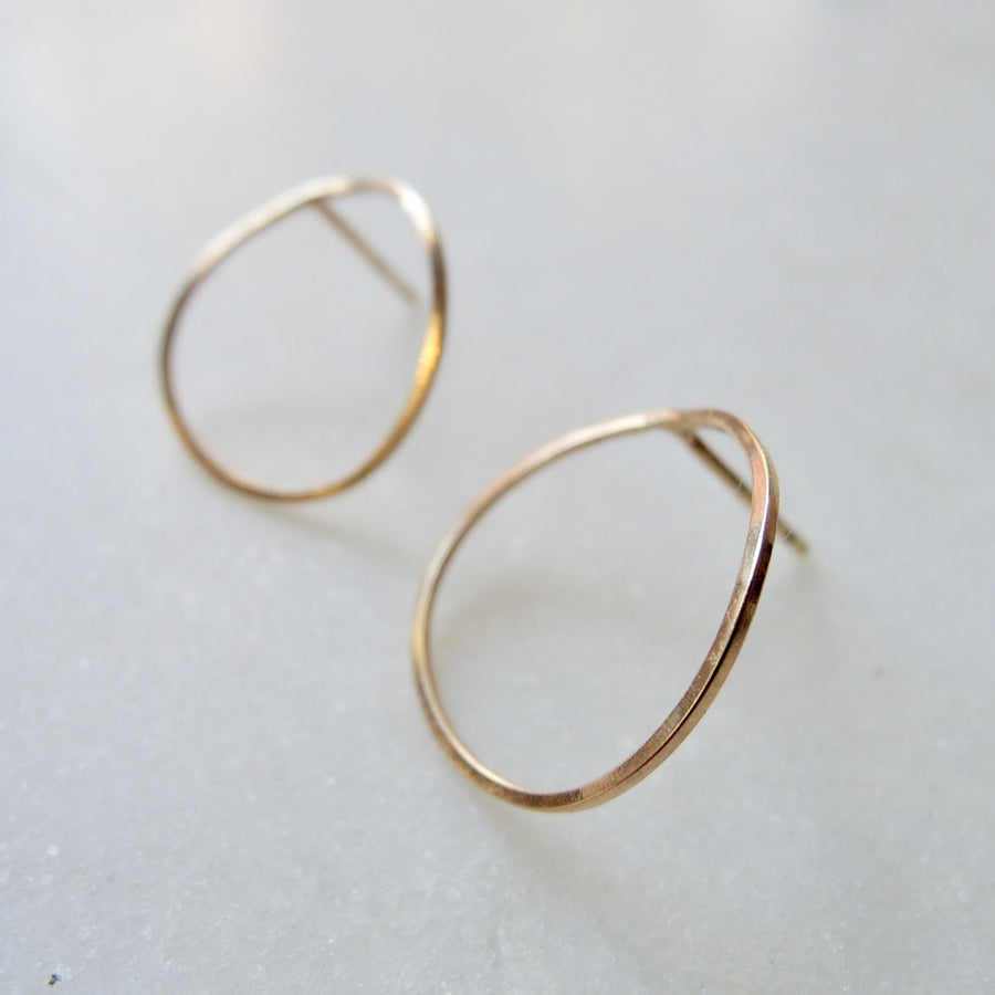 Skinny Open Circle Earrings