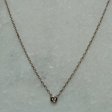 Any New York Diamond + Silver Necklace