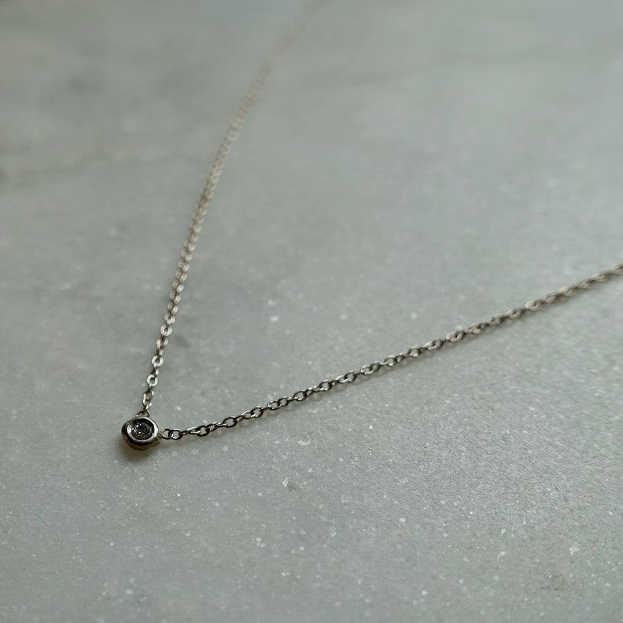 Petite Silver Diamond Necklace